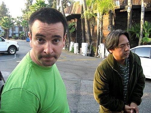 outside Bahookas in California with Kevin Kataoka