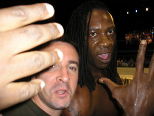 With Booker T - WWE Smackdown. Milwaukee, Wisconsin
