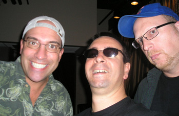 With Rob Brackenridge and Howard Dover. Hollywood, California
