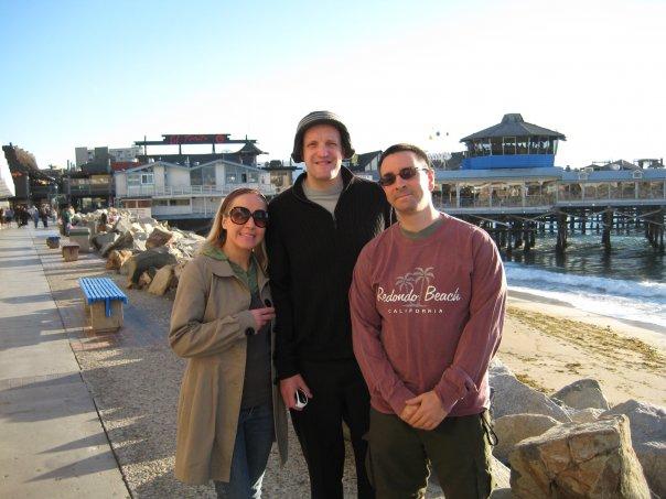with Jim Tavare & Laura Pawsey in Redondo Beach