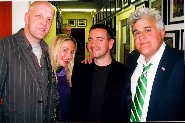 with Jay Leno, Jim Tavare & Laura Pawsey in Hermosa Beach