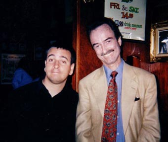 with Lucien Holde (RIP) @ The Comic Strip, NYC