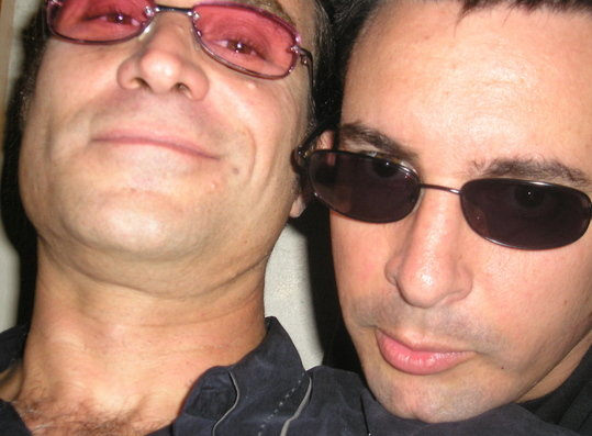 with Paul Provenza backstage at the Jimmy Kimmel show