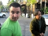 outside Bahookas in California with Kevin Kataoka